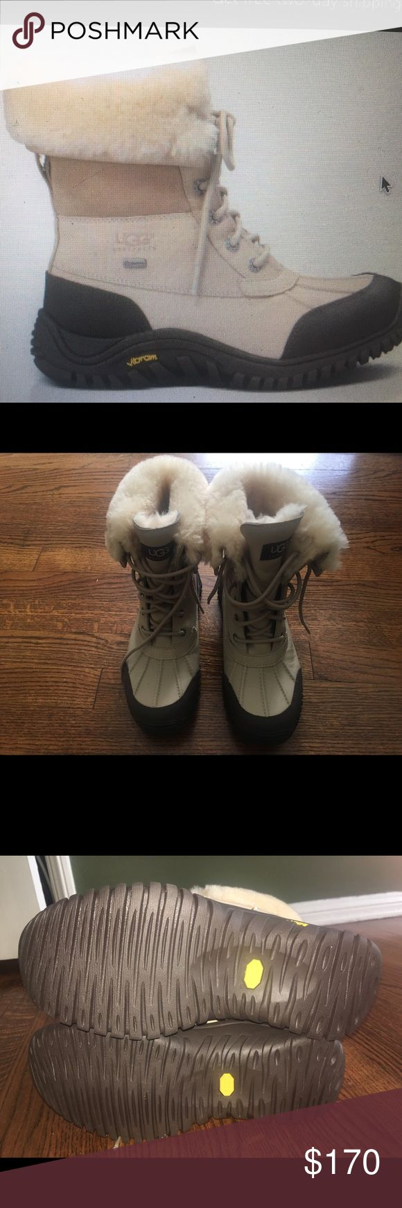 Ugg Adirondack Boot 11 color Sand size7/8 Like new beautiful snow boots - I didn't wear them as they are tight on me (I have a wide foot) I am also normally a 7 - these are an 8 but you might want to go a size up UGG Shoes Winter & Rain Boots