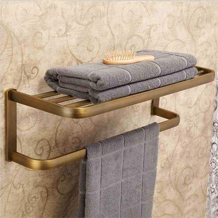 浴室タオルラック タオル掛け タオル収納 ハンガー バス用品 真鍮製 アンティーク