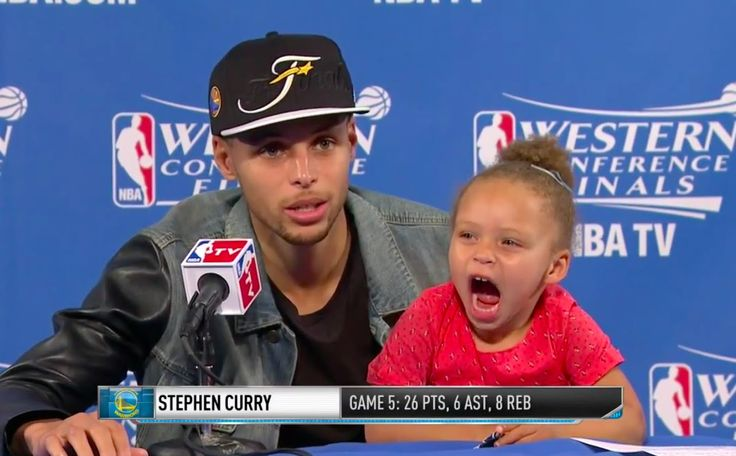 Happy Father's Day from Stephen Curry and his daughter Riley.