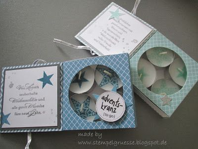 stampin up, kartenbox, adventskranz zu go