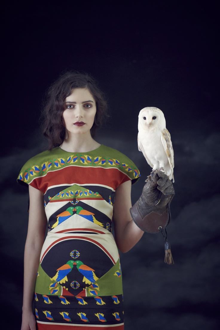 Dress - Charlotte Taylor, Autumn/Winter 2012: Thedress, Fashion, Charlotte Taylors, Bold Prints, Barns Owl, Fall 2012, The Dresses, Stunning Dresses, Textiles Prints