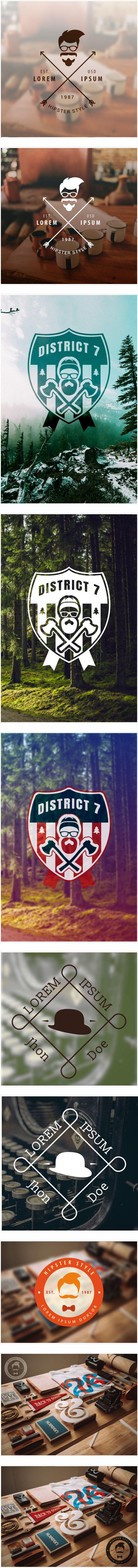 hipster logo, vector, background, beard