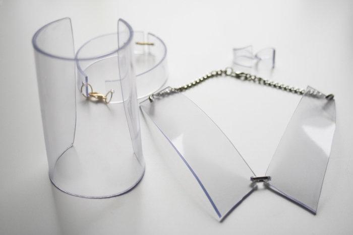 clear perspex accessories - diy collar, cuff