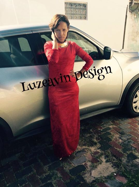Red Velvet dress made and design by Luzeavin Design