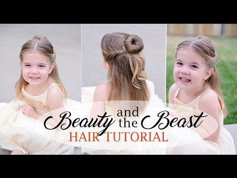 Belle Hair tutorial for little girls - Beauty and the beast inspired - f...