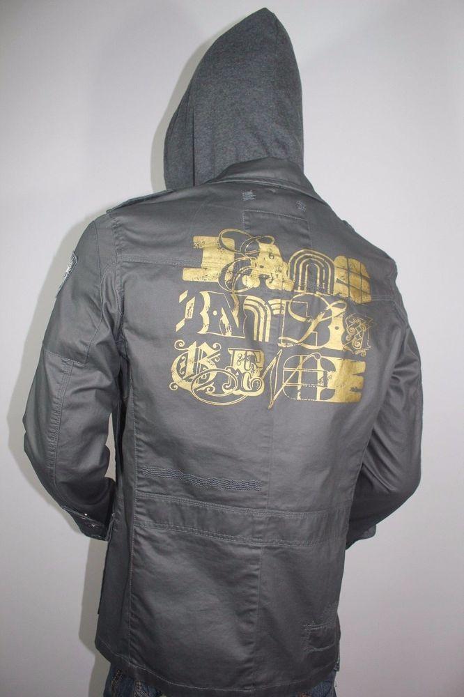 Jack and Jones Jacket *EST 1975* Hooded Multi-Pockets Parka Coat SZ L #JACK #JACKET