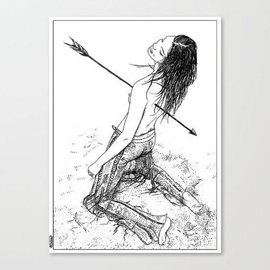 asc 156 - La flèche noire Canvas Print