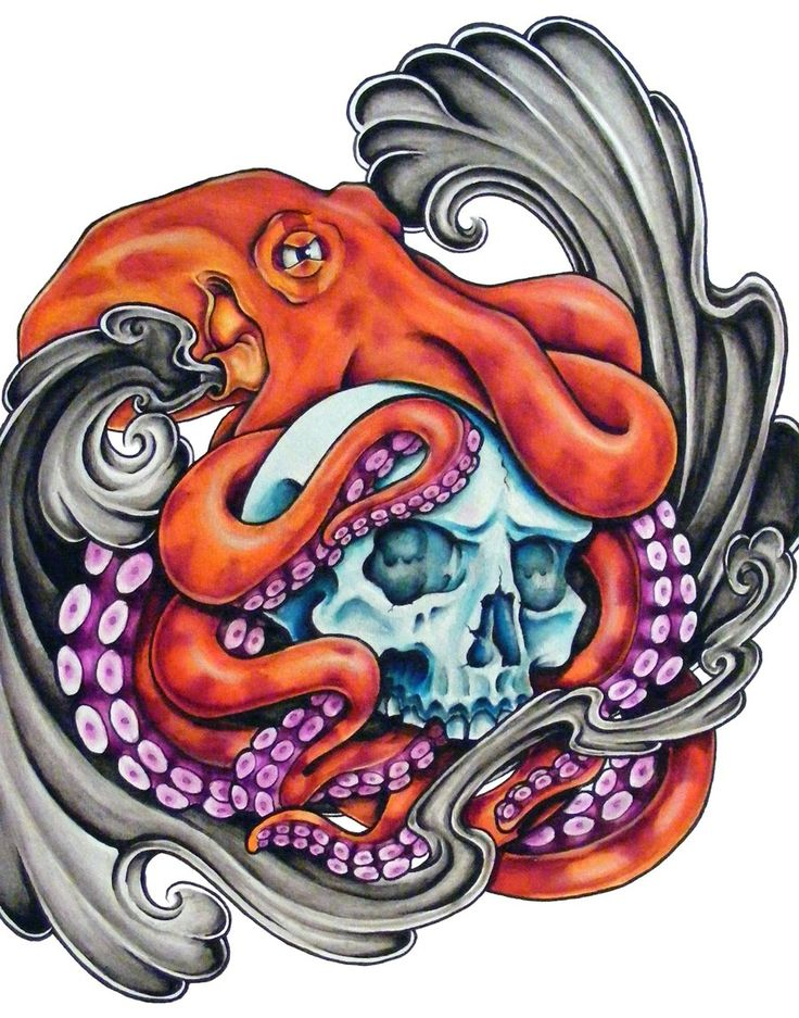 Squid tentacles illustration