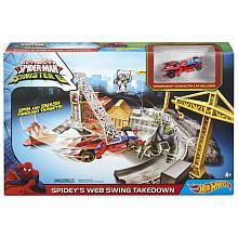 Hot Wheels Marvel Ultimate SpiderMan vs The Sinister 6 Track Set  Spideys Web Swing Takedown