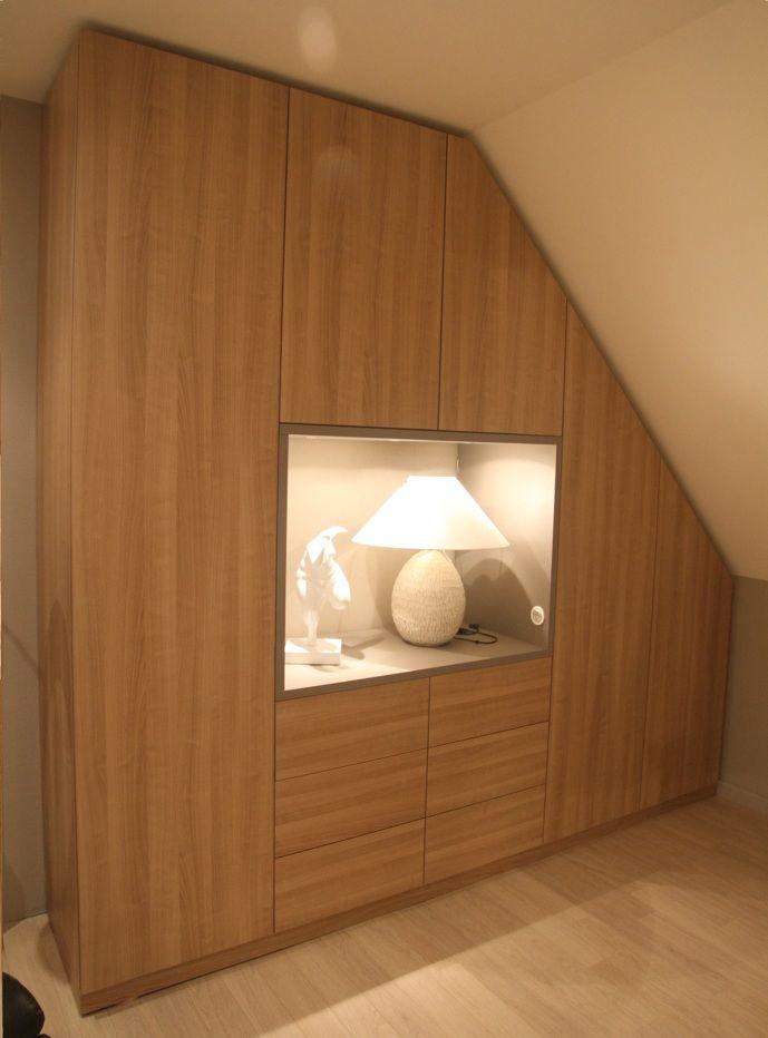 placard sous pente nantes vannes lorient paris la compagnie des ateliers am nagement. Black Bedroom Furniture Sets. Home Design Ideas