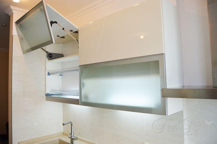 верхние шкафы кухни фото
