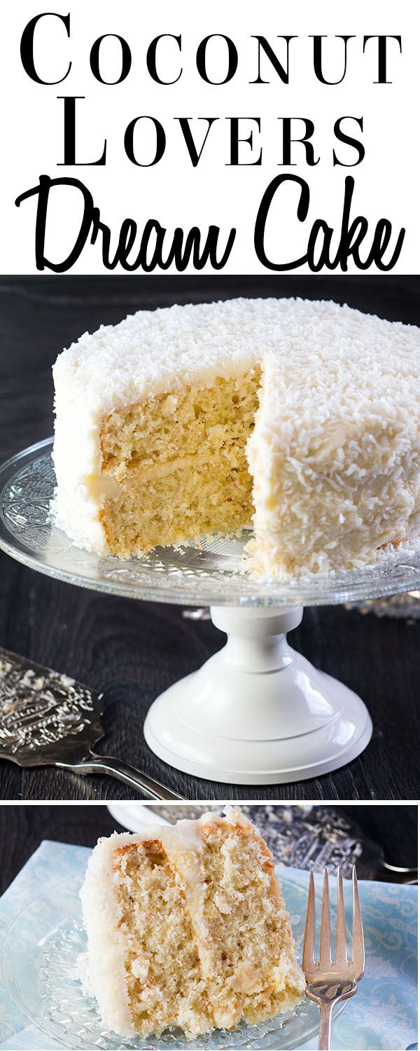 Get a triple hit of coconut with this beautiful Coconut Lovers Dream Cake…