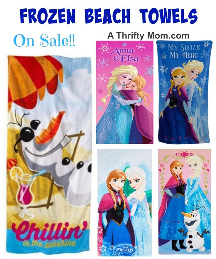 these beach towels are so cute! Frozen Beach Towels On Sale low as $9.99 - A Thrifty Mom