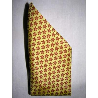 $13, Yellow Print Silk Scarf: Royal Silk Clover Print Yellow Silk Handkerchief 100% Silk By. Sold by Royal Silk. Click for more info: http://lookastic.com/men/shop_items/74312/redirect