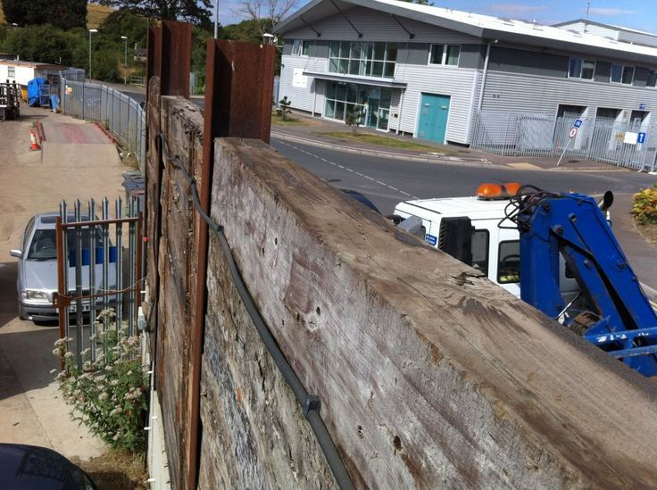 railway sleeper fence - Google Search