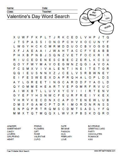 Sly image in valentine crossword puzzles printable