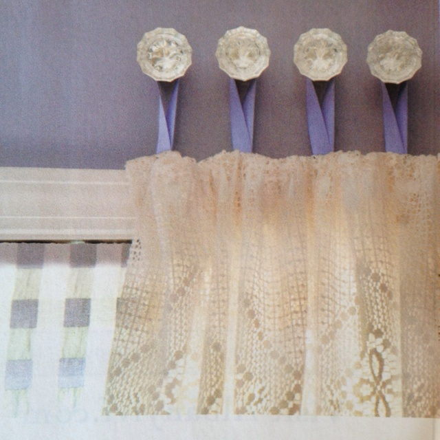 Hanging Curtains Love How She Uses Crystal Draw Knobs And