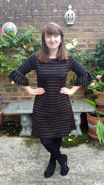 Laura-Jane's Coco dress with ruffle sleeve hack - sewing pattern by Tilly and the Buttons