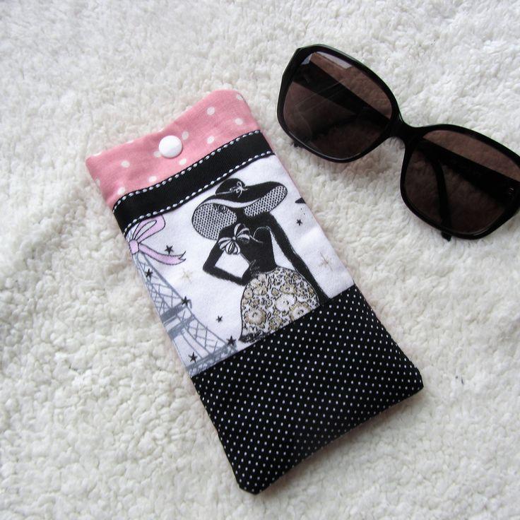"""Etui à lunette rétro chic """"la parisienne"""" n°1 en tissus à pois : Etuis, mini sacs par nymeria-creation"""