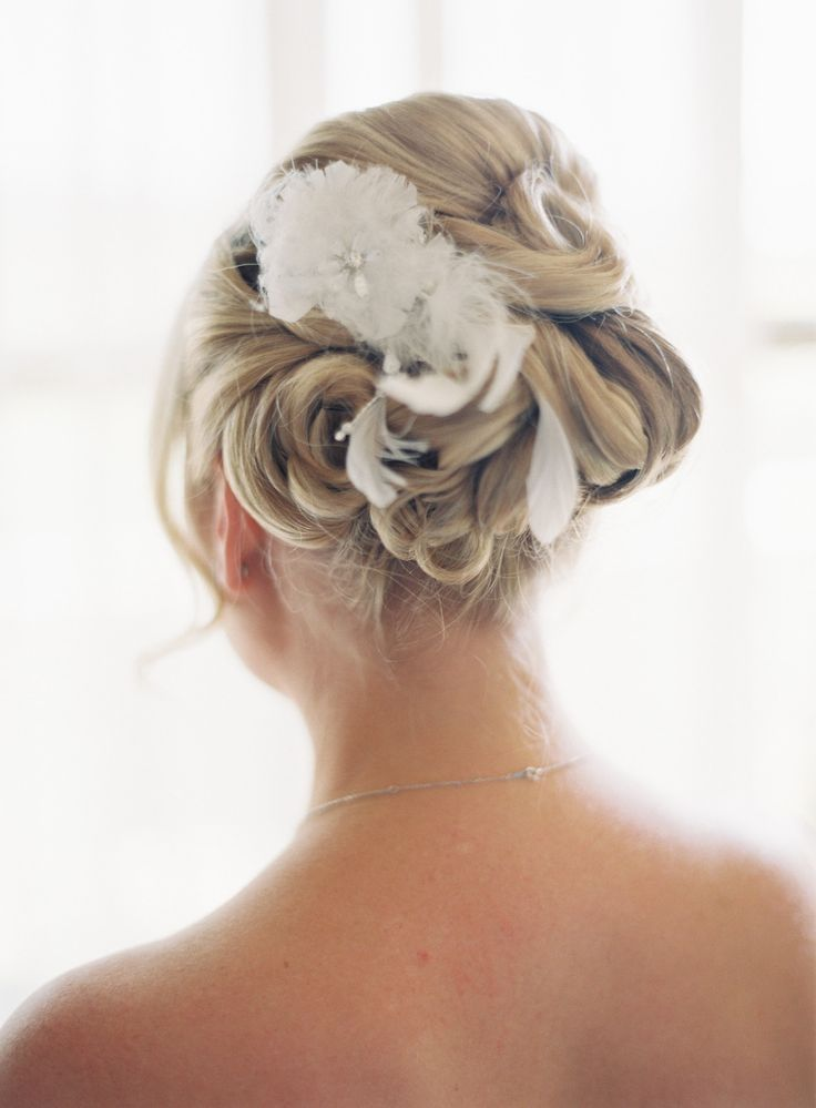 #Hairstyle | See the wedding on SMP: http://www.StyleMePretty.com/2014/01/31/carmel-by-the-sea-wedding-at-mission-ranch-hotel/ Kurt Boomer Photo
