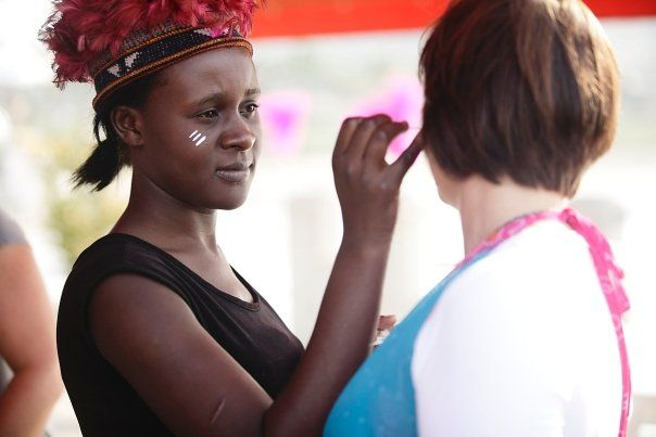 Being welcomed into the moyo family with traditional african face paint!