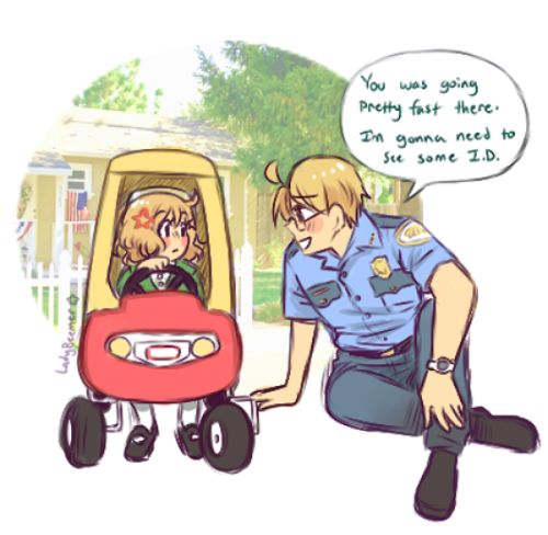 IMAGINE ALFRED BEING THAT ONE REALLY NICE POLICEMAN WHO DEALS WITH THE KIDS, ANDS MAKES SURE THEY FEEL COMFORTABLE, AND CALMS THEM DOWN BECAUSE HE KNOWS WHAT IT FEELS LIKE TO LOOSE A LOVED ONE AT A YOUNG AGE. AND WHEN IT COMES TO CRIMINALS HES THE TAKE-NO-PRISONERS AWESOME SAUCE BAD BUTT WE ALL KNOW AND LOVE<-- yES