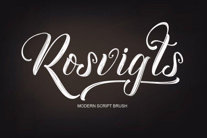 Rosvigts Brush Script By Moriztype