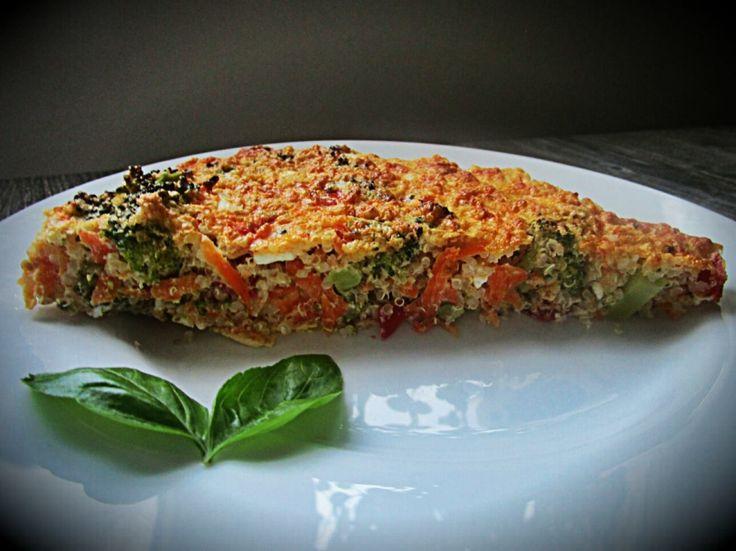 Quinoový nákyp se zeleninou a sýrem cottage