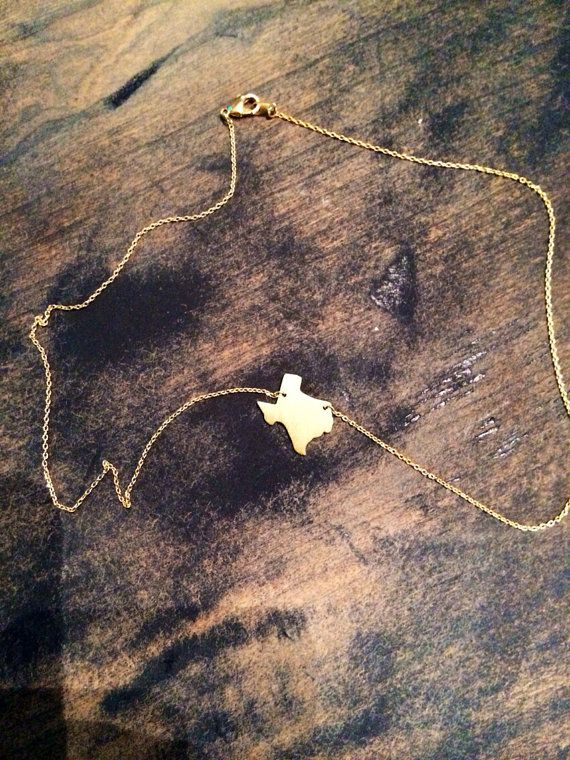 Dainty Texas Necklace on Etsy, $15.00