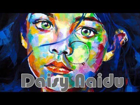 Speed painting- Acrylic portrait by Daisy Naidu - YouTube