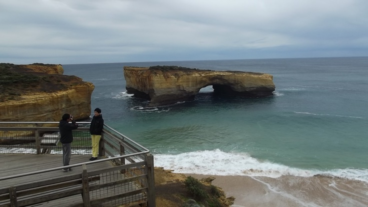 London Bridge has fallen down. One of the features often visited on the Great Ocean Road.