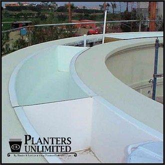 Fiberglass Planter Liners for Commercial Planters