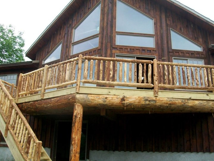Rustic Log Railing Porch Diy Home Makeovers Pinterest