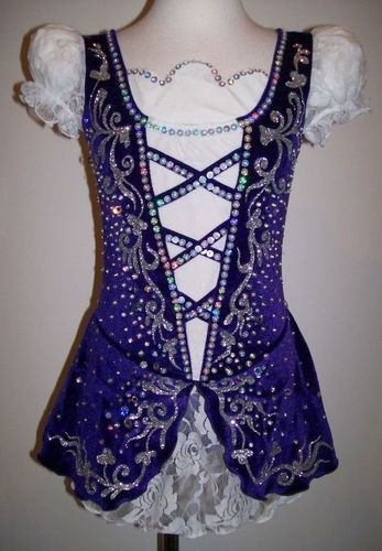Traditional Figure Skating Dress/Irish Dance/Baton Twirling Costume Made to Fit | eBay
