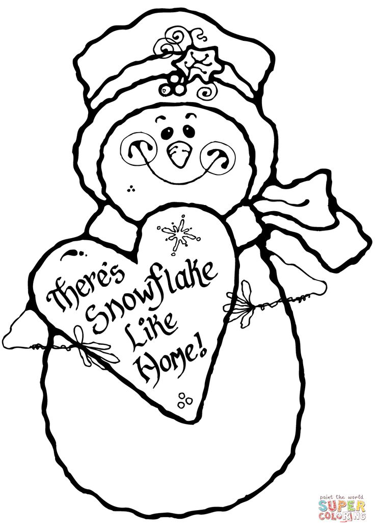 snow coloring pages free - photo#46