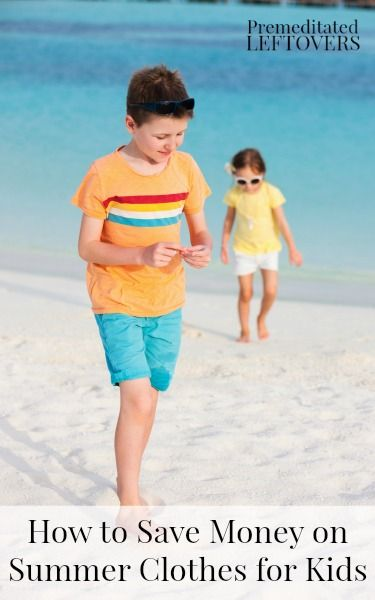 How to Save Money on Summer Clothes for Kids