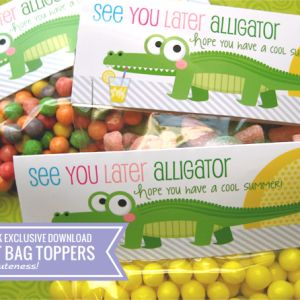 FREE Download - Treat Bag topper