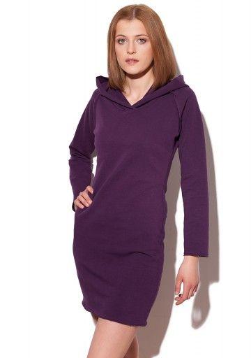 Sukienka dresowa z kapturem