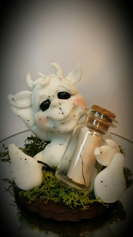 OOAK Worry Gargoyle in polymer clay - by Cotswold Characters