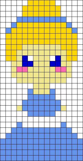 pixel art cendrillon