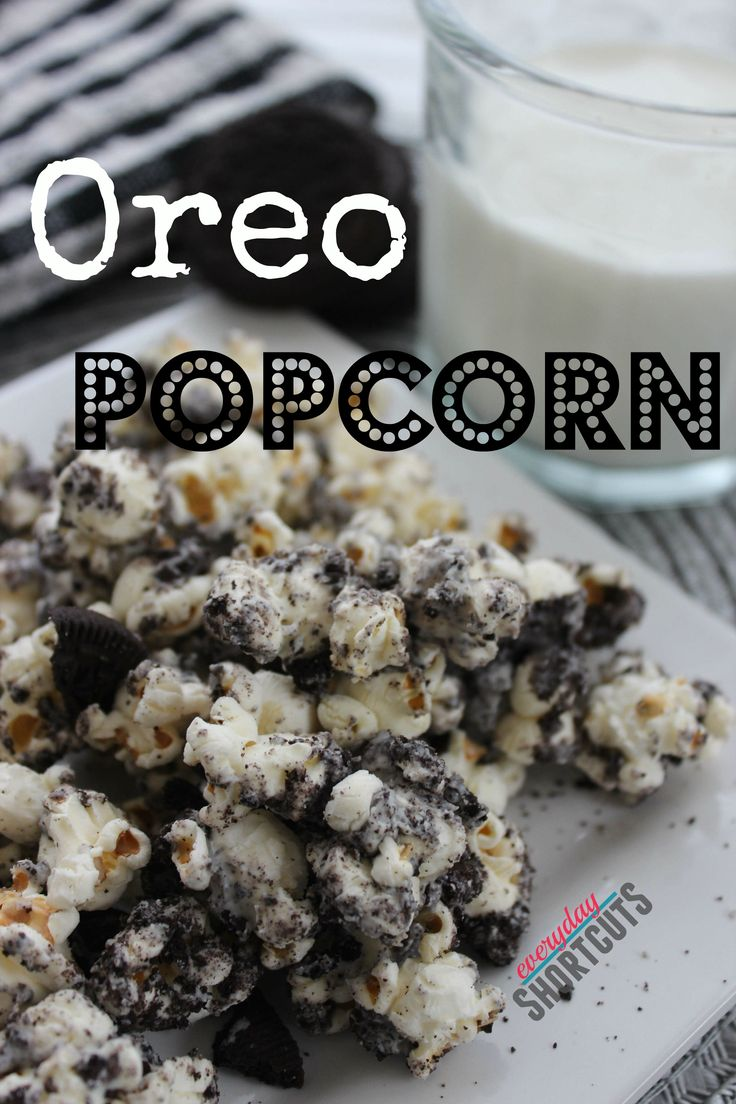 Add some flavor to plain boring popcorn with this recipe for Oreo Popcorn. It is so easy to make and will be a hit with the family for movie nights.