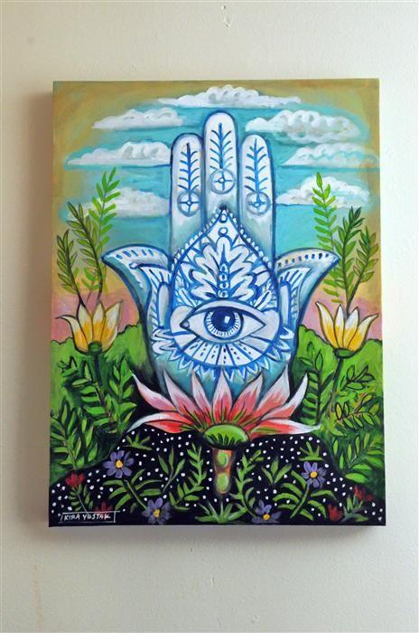 hamsa canvas painting - Google Search