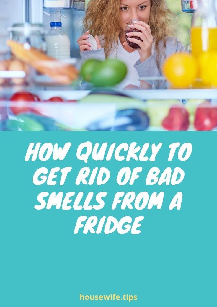 To get rid of the smell of plastic in a new refrigerator ...