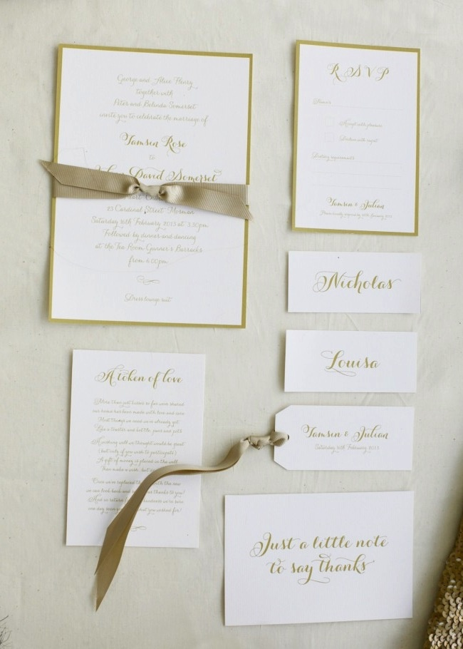 Our Whimsical Script Invitation as featured on http://thelane.com/Backstage/