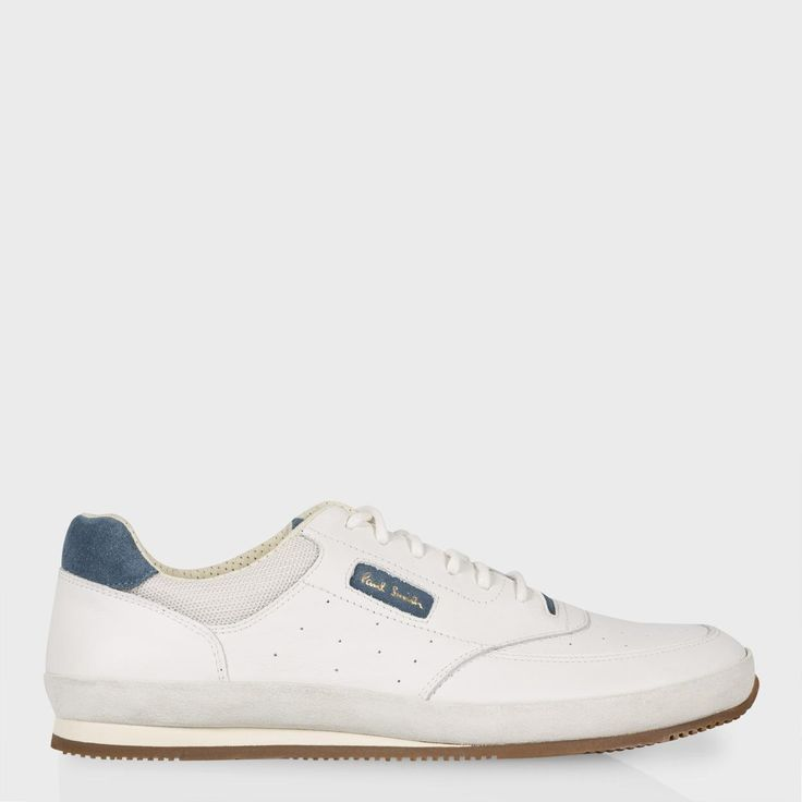 Paul Smith Men's Shoes | White Leather And Suede 'Harrison' Trainers