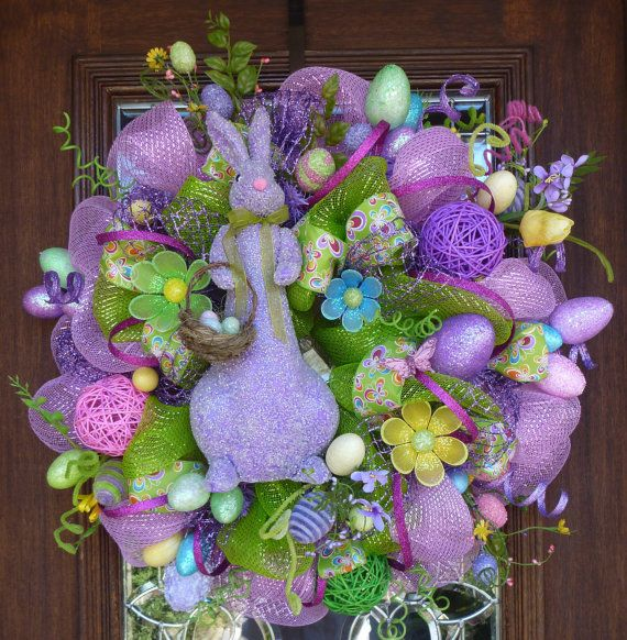 Two Silly Monkeys Easter Basket Wreath: 167 Best Images About Wreath:Easter On Pinterest