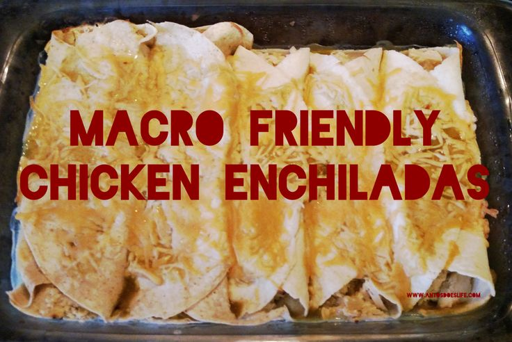 Macro Friendly Chicken Enchiladas