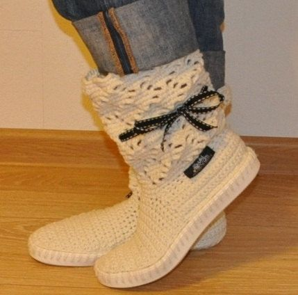 Crochet boots  UkiCrafts VanillaCrochet Boots for the by ukicrafts, €42.00