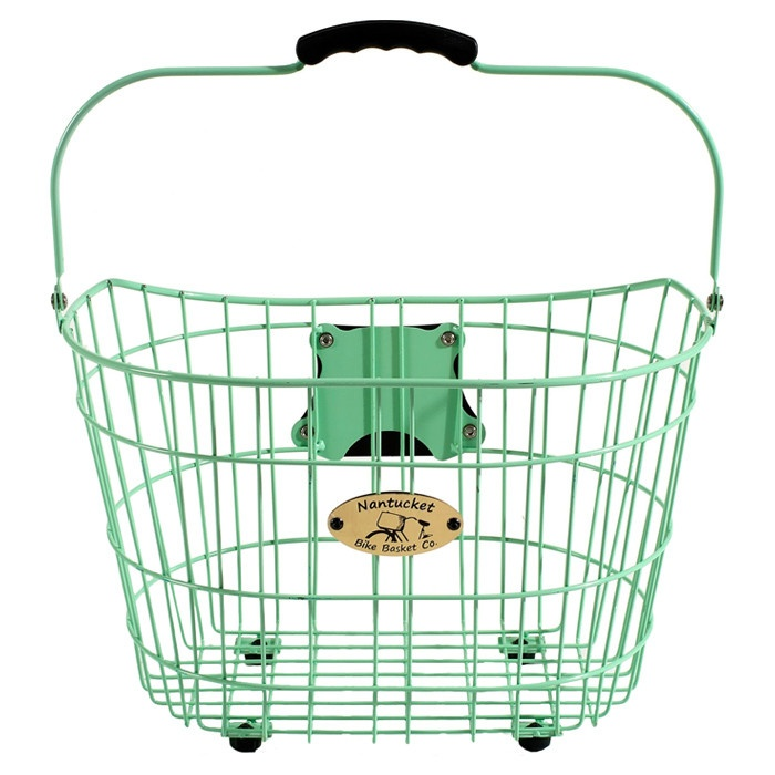 Mint green bicycle basket