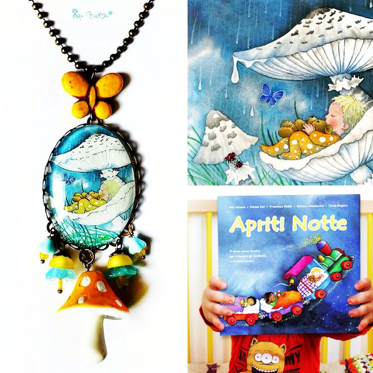 Necklace done with wonderful illustrations by Barbara Jelenkovich!
